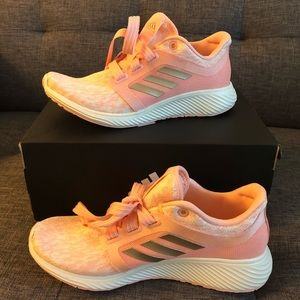 Adidas Edge Lux 3 Pink Copper Cloud Sneakers NIB